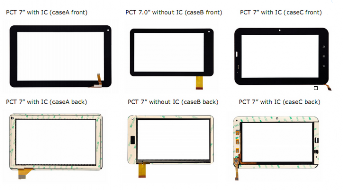 "7"" OCA Capacitive Touch Screen Panel For The G + F / F Or G + G With USB / I2C Pins"