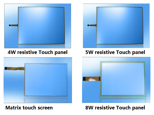 "5W / 8W RTP 4"" - 23.6"" 5 Wire Resistive Touch Panel With USB Controller"