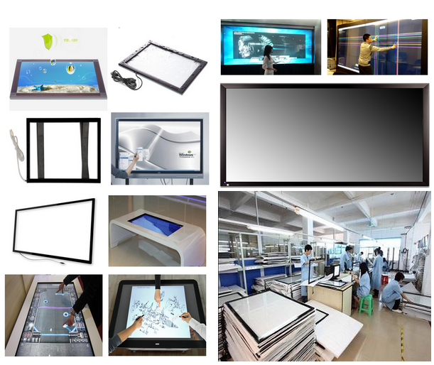 Customized/standard 7-350 Inch Multitouch Infrared Touch Panel With USB Cable and Controller,