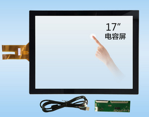 17 Inch 10 Point Projected Capacitive Touch Screen G + G With USB Interface