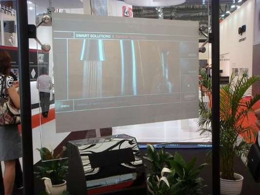 Touch wall 80 inch NANO PET Touch Screen Foil Can Integrated to Touching System
