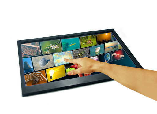 Optical Usb Touch Screen Panel CMOS LCD Monitors 15 Inch With High Resolution