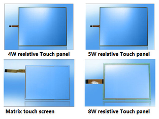 China ITO film Glass USB Resistive Matrix industrial Touch screen Panel 4w 5w 8w supplier