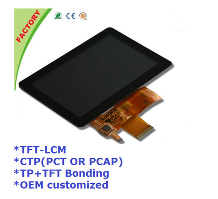 "5"" Touch screen panel and LCM and optical bonding for Industrial control device"