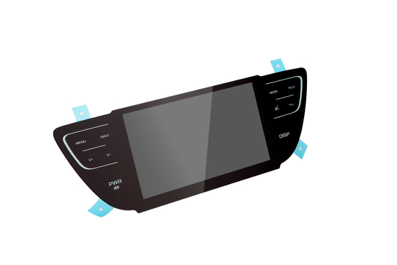 China Incar Special Shape PCT Projected Capacitive Touch Panel For Rearview Mirror supplier