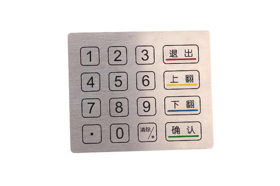 China Outdoor anti-vandal and waterproof metal Touch Panel key pad With Usb Interface factory